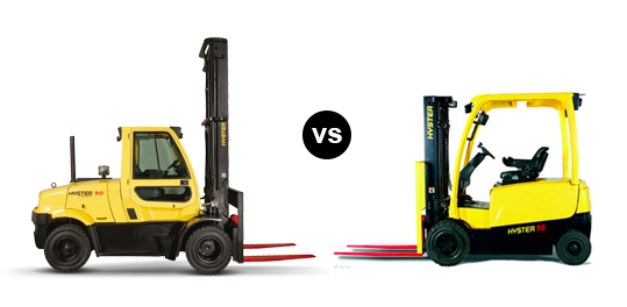 Battery electric VS combustion engine counterbalance forklift