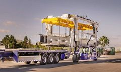 More Efficient and Safer Long Load Steel Handling with Combilift's Straddle Carrier