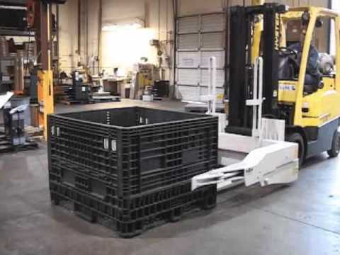 Features and Benefits of Forklift Bin Tipper Attachments
