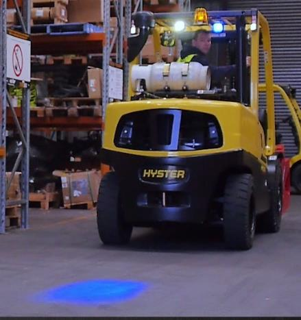 Hyster recycling plant forklift safety beacon