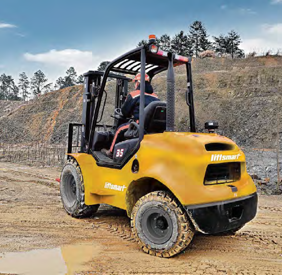 Liftsmart all terrain forklift farming and agriculture