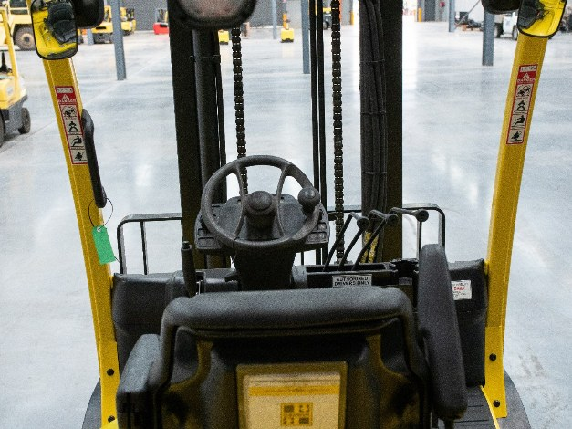 Used forklift familiar operator cabin layout