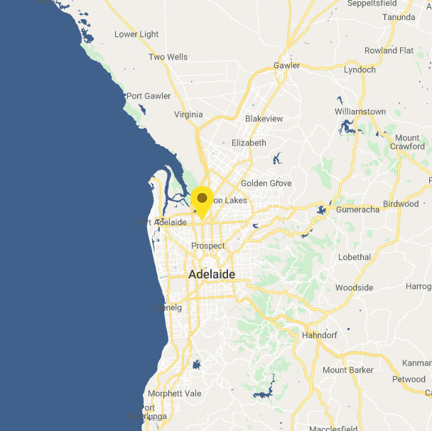 Adelaide map branch location