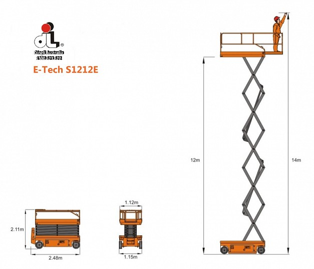 Dingli E-Tech S1212E Electric Scissor Lift
