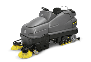 Ride On Scrubber Dryer with Pre-Sweep