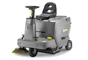 Ride-on floor and vacuum sweeper