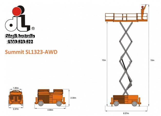 Dingli Summit SL1323-AWD Scissor Lift